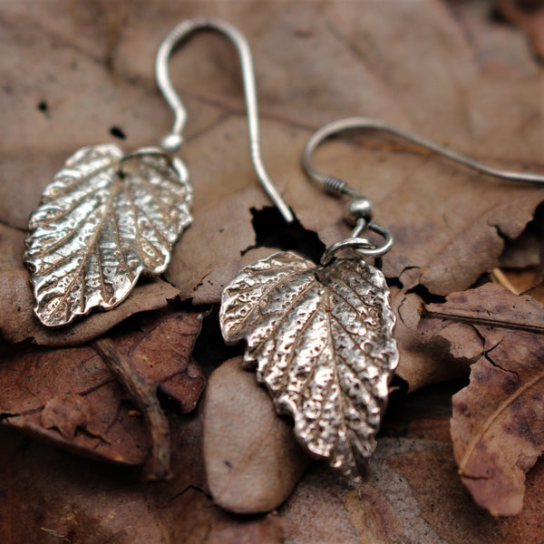 Natural leaf earrings