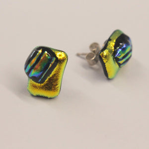 Yellow metallic earrings