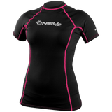 ONeill UV Sun Protection Womens Basic Skins Short Sleeve Crew Rashguard