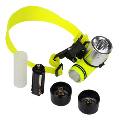 VicTsing 1800Lm Lumens CREE XM-L T6 3 Modes Super Bright Underwater Diving Headlamp Light