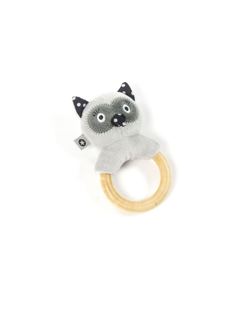 rattle ring, owl grey