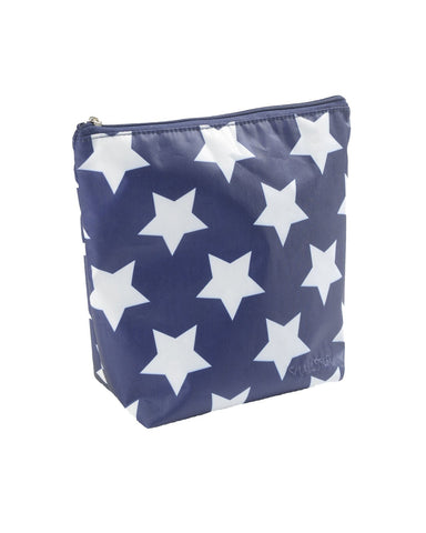 LARGE TOILETBAG,NAVY WITH WHITE STAR