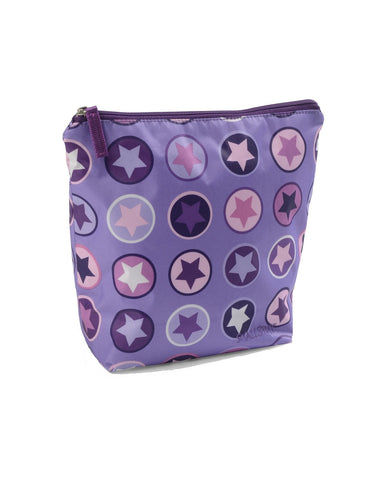 LARGE TOILETBAG,PURPLE/ROSE CIRCLE STAR