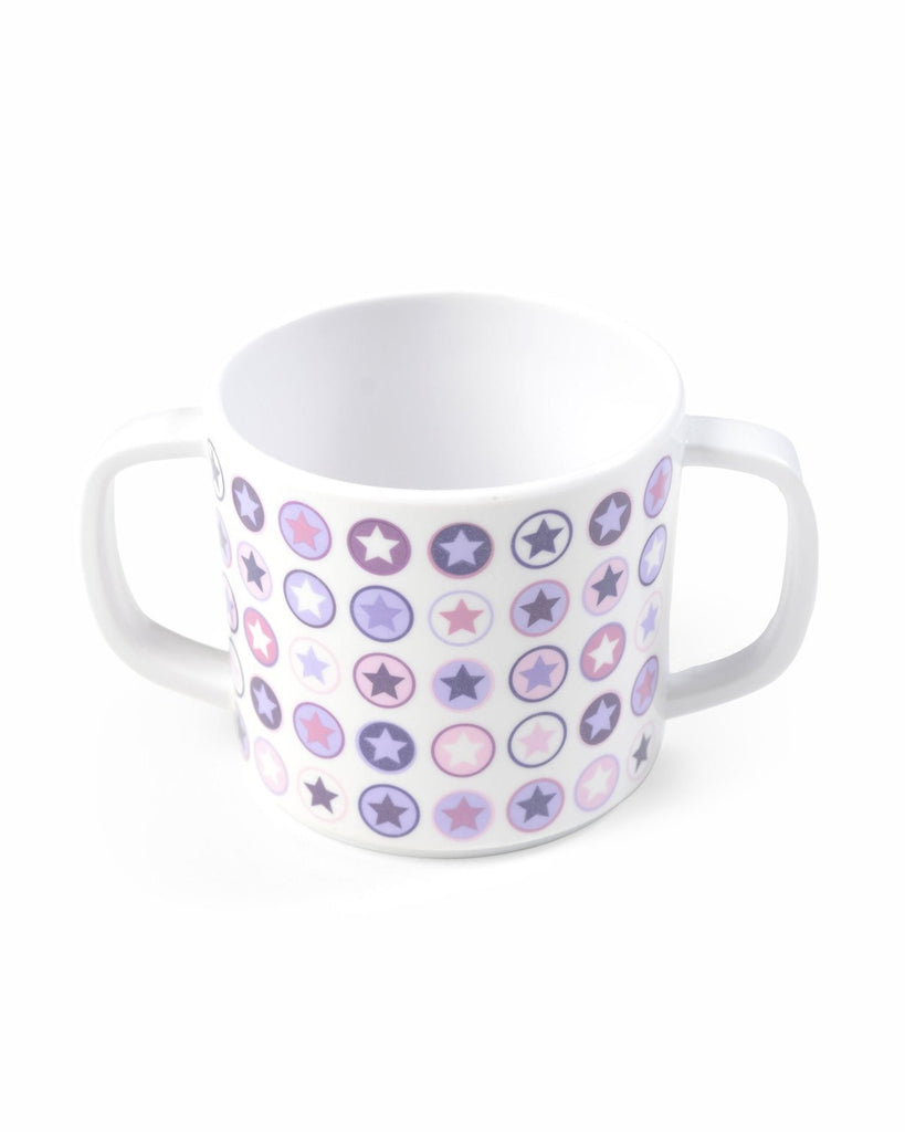 CUP WITH HANDLE LAVENDER CIRCLE STAR