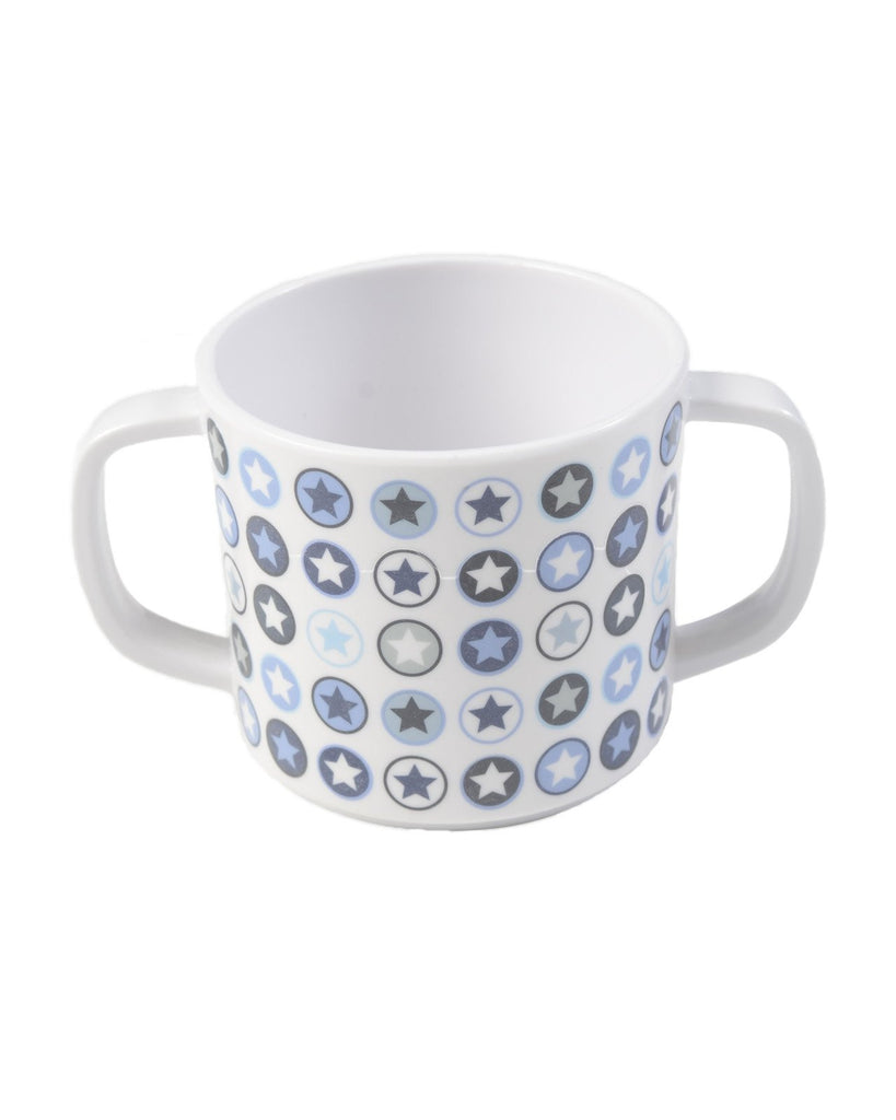CUP WITH HANDLE DENIM CIRCLE STAR