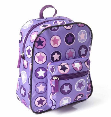 BACKPACK,PURPLE/ROSE CIRCLE STAR