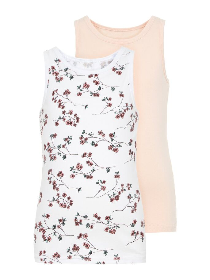 NMFTank Top 2P Strawberry Cream NOOS