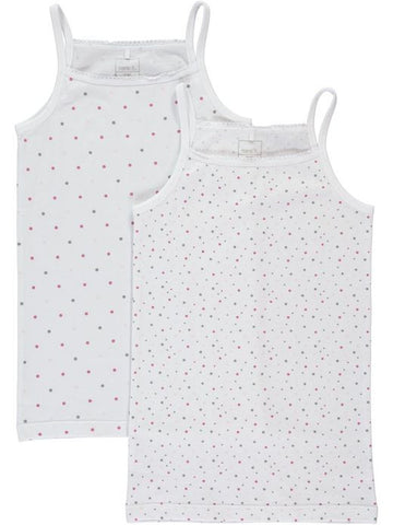 Nitstrap Top 2P Bright White K G Noos