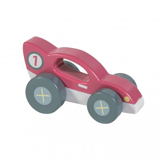 Wooden racer car, red