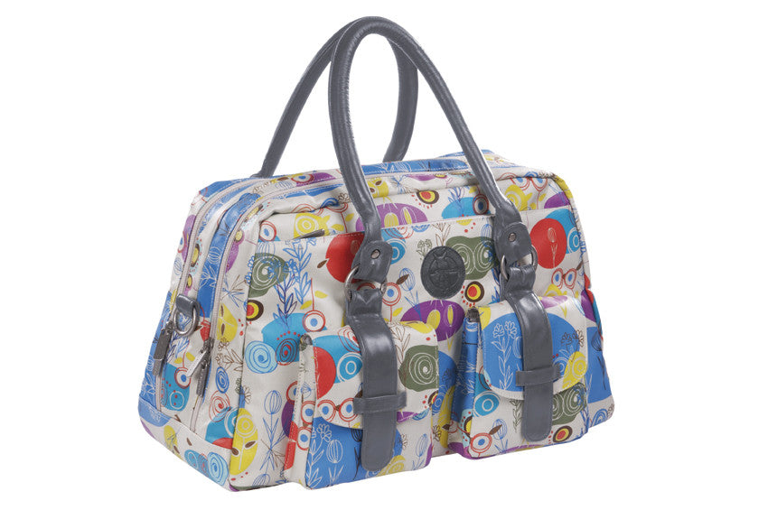 Vintage Metro Bag Oilcloth multicolour