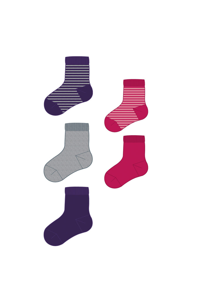 5 MINI SOCK GIRL NOV 511 5-PACK