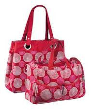 Gold Label Tote Bag red