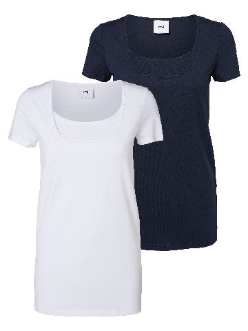 SOFIA NELL S/S TOP NF-BASIC 2 PACK