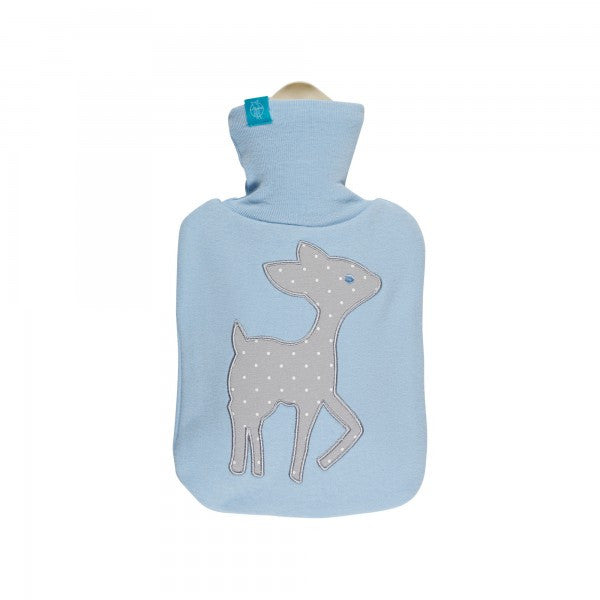 Hot Water Bottle Lela patch light blue