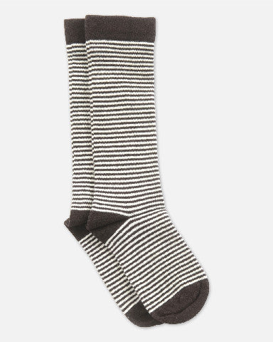 Kneehigh Socks Brown-offwhite