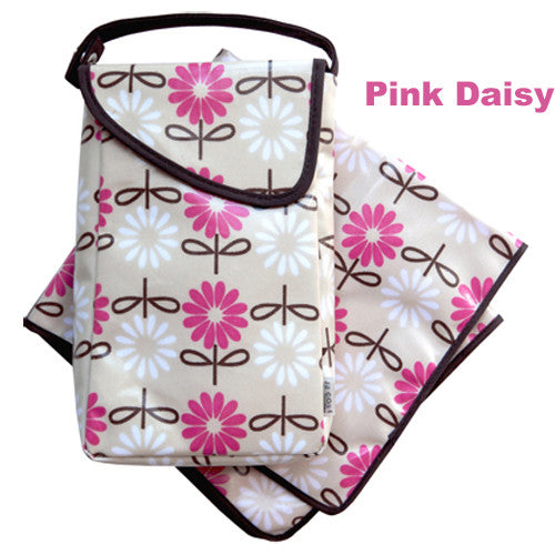 DIAPERS & WIPES POD  - PINK DAISY