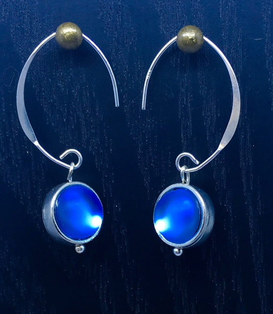 "BOUCLES D'OREILLE ""LITTLE BLUE COMETE"""