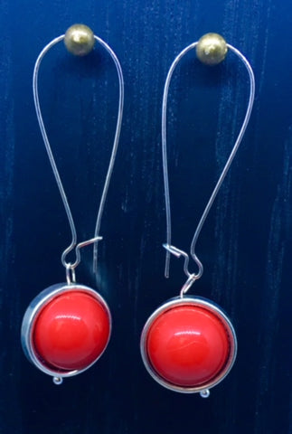 "BOUCLES D'OREILLE ""RED COMETE"""