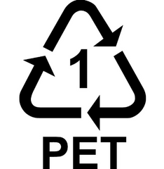 PET recycling symbol