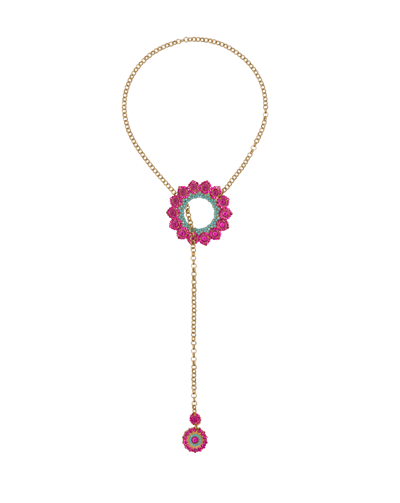 Peacock Necklace Fuchsia