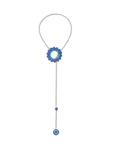 Peacock Necklace Blue