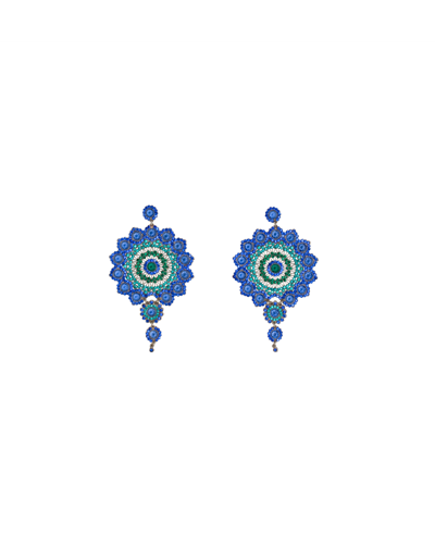 Peacock Earrings Blue