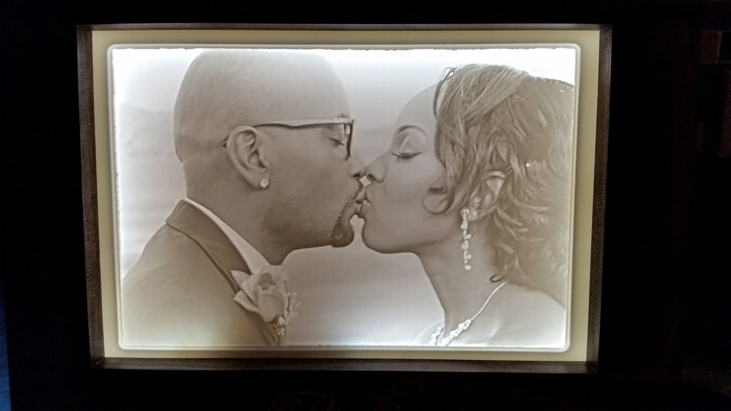 Custom Carved Photo Lithophane