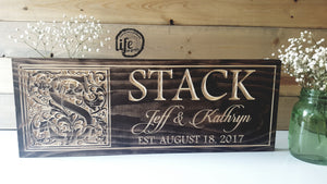 Custom Carved Wedding or Anniversary Sign