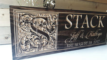 Load image into Gallery viewer, Custom Carved Wedding or Anniversary Sign