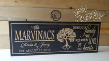 Load image into Gallery viewer, Custom Carved Wedding or Anniversary Sign - Family Tree