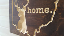 Load image into Gallery viewer, Ohio Whitetail Deer - Carved Wood Sign