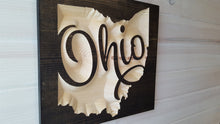 Load image into Gallery viewer, Scripted Ohio - Carved Wood Sign