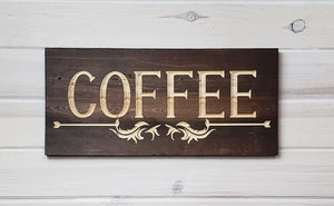 Coffee - Carved Wood Sign