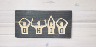 OHIO People - Carved Wood Sign