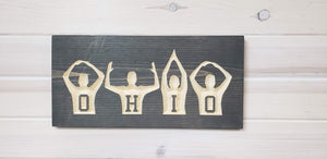 OHIO People - Carved Wood Sign - Wholesale