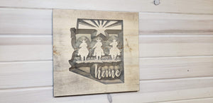 Arizona Home - Carved Wood Sign