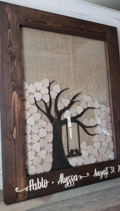 Guestbook with Tree Inside