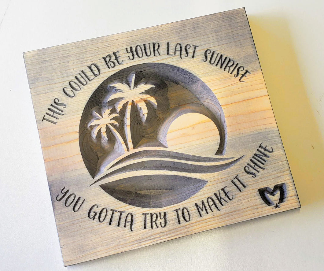 The Movement - Last Sunrise - Carved Wood Sign