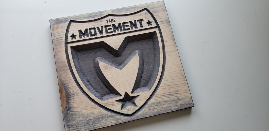 The Movement - Logo - Carved Wood Sign