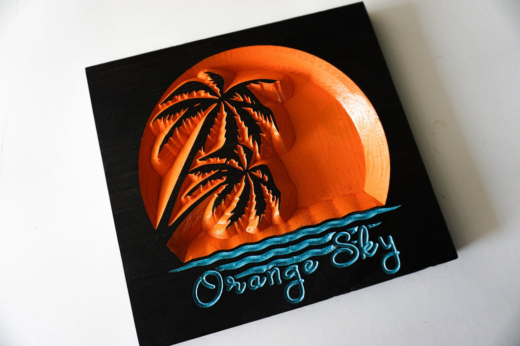 The Movement - Orange Sky - Carved Wood Sign