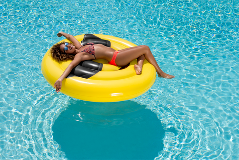 😎  Giant Sunglass Face Emoji Pool Float