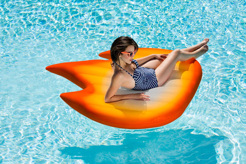 🔥  Giant Fire Emoji Pool Float