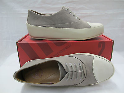 FITFLOP scarpe donna modello DUE OXFORD CANVAS colore BEIGE estate 2014 - dodo.club - 1