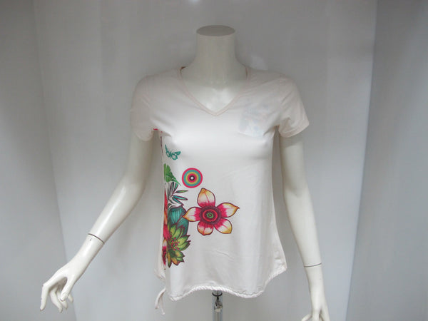 DESIGUAL t-shirt donna manica corta modello 60T2SD1-1013 colore BEIGE estate 2016 - dodo.club - 1