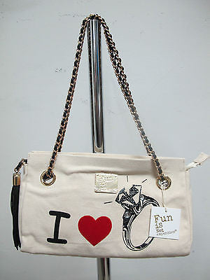 FUN IS NOT EXPENSIVE borsa donna modello RING colore BEIGE/NERO ESTATE 2013 - dodo.club - 1