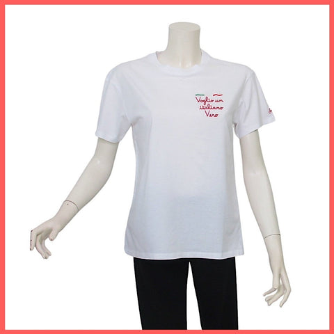 MC2 SAINT BARTH t-shirt donna girocollo EMILIE EMB VOGLIO ITALIANO 01 estate 2021