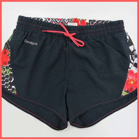 DESIGUAL short sportivi donna FR SHORT 60P2SA5 2014 colore NERO estate 2016