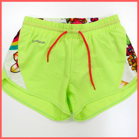 DESIGUAL short sportivi donna FR SHORT 60P2SA4 4140 colore VERDE FLUO estate 2016
