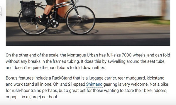 Bikeradar folding bike of the year ..