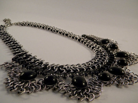 black_silver_statement_necklace